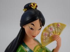 Couture de Force Mulan - Disneyland Purchase - Closeup Left Front View (drj1828) Tags: couturedeforce mulan disney disneyland enesco figurine 8inch purchase deboxed