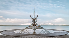 Sólfar The Sun Voyager (PokemonaDeChroma) Tags: solfar sunvoyager sculptures reykjavik steel freedom hope discovery art april 2017