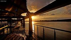 Rowing boat at sunset (dreptacz) Tags: wisła woda rzeka przystań zachód słońce chmury natura lustrzanka slt slt55 sony sony55 tamron widok architektura polska włocławek sonyflickraward flickrunitedaward theperfectphotographer