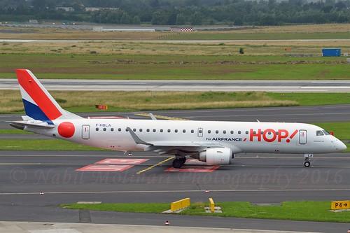 Hop! F-HBLA Embraer ERJ-190-100LR cn/19000051 @ EDDL / DUS 27-06-2016