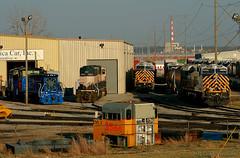 MAC Variety Pack (Jeff Carlson_82) Tags: emd ge mac kc mo midamericacar kansascity missouri gmtx bnsf burlingtonnorthernsantafe crex citirail es44ac sd70mac mp15 sd90mac sd9043mac emlx 8544 78 9763 1510 1514 train railfan railroad railway leaser rentawreck