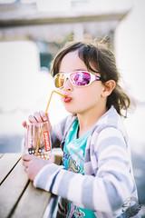 Romie (C.Syl20) Tags: portrait samyang5014af syl20photographeaveyron beautiful boir daughter drink enfant fille lunettes portraiture printemps2017 romane soleil