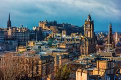Early Morning Edinburgh (Michael Boys) Tags: edinburgh scotland castle oldtown unitedkingdom princesstreet caltonhill edinburghcastle sunrise sony dscrx100