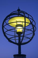 Blue Hour Lamp (Rudi Pauwels) Tags: goteborg gothenburg sverige sweden schweden hisingen eriksberg bluehour evening afterdark lamp light blue closeup tamron 18270mm tamron18270mm nikon d7100 nikond7100