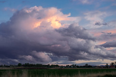 Storm Clouds at Sunset (wernsmannlynn) Tags: nature cloudsky sky cloudscape outdoors landscape scenics blue sunset weather ruralscene beautyinnature dusk backgrounds