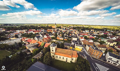 Krobia (I Love Canon <3) Tags: drone aerial krobia biskupizna wielkopolska gopro hero black 4 3dr church market city town village country greaterpoland polska poland clouds