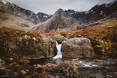 Fairy Pools (Steffen Walther) Tags: 2016 reise schottland scotland travel landscape europe britain uk canon5dmarkiii fairypools skye cuillins highlands mountains wanderlust reisefotolust outdoors walk trekking peak rough weather clouds stream river cascade waterfall canon3514l