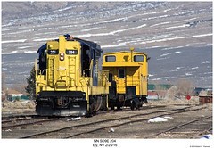 NN SD9E 204 (Robert W. Thomson) Tags: nn nevadanorthern emd diesel locomotive sixaxle sd9 sd9e train trains trainengine railroad railway ely nevda