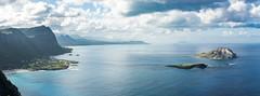 Waimanolo and Rabbit Island (Taomeister) Tags: voigtlandernoktonsliis58mmf14 nikond810 oahu stitchedpanorama