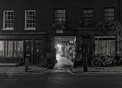 Warren Mews (www.charlottegilliatt.com) Tags: gaslight london night urban cobblestones dark bicycle