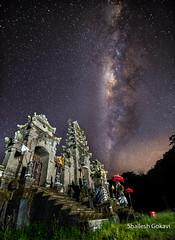 The stars come calling.. (segokavi) Tags: stars night astro milkyway bali tamblingan gubug nature nightscape landscape temple galaxy