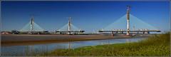Mersey Gateway Project (Six Lane Cable Stayed Road Bridge) 8th April 2017 (Cassini2008) Tags: merseygatewayproject cablestayedroadbridge bridgeconstruction rivermersey engineering runcorn widnes