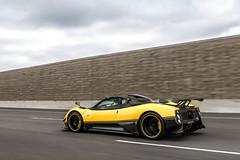 Yellow Cinque Roadster (Maxx Shostak) Tags: pagani zonda cinque roadster