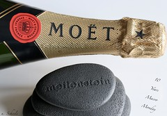 "Milestone  =  Meilenstein - - - - "" 10 Years MM "" (Ute Scheele) Tags: makro macro macromondays nahaufnahme canon closeshot canoneos80d closeup eos80d eos meilenstein milliarium geburtstag birthday years happy moet champagne schärfentiefe indoor stein 10years happybirthday red rot gold chandon brut imperial milestone digital inexplore explore explored macromandays"