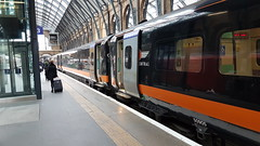 Grand Central 180105 1A65 1412 Sunderland - London Kings Cross.  30th April 2017 (Ajax46.) Tags: 180105 grandcentraltrains kingscross 30thapril2017 1a651412sunderlandtolondonkingscross