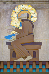 """NYC - Rockefeller Center - """"Saint Francis of Assisi with Birds"""", Lee Lawrie, 1937 (David Pirmann) Tags: newyorkcity rockefellercenter art artdeco leelawrie nyc"""