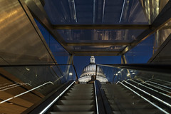The Way To St Pauls (JH Images.co.uk) Tags: st pauls cathedral hdr night bluehour escalator steps sky church dri dome one new change