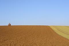 Hunters world (Xtraphoto) Tags: landschaft landscape sky blue braun brown jäger jägerstand hunter acker acre fields field felder feld