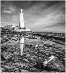 St. Mary's Lighthouse. (david newbegin) Tags: stmaryslighthouse lighthouses whitleybay northtyneside northeastengland northsea seatonsluice
