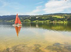 Alpsee Immenstadt (Reinhard Höfkes) Tags: immenstadt bühl alpsee wasser segelboot boot natur allgäu oberallgäu bayern himmel wolken