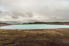 Blue Lake (webeagle12) Tags: iceland nikon d7200 europe mountains landscape vegetation nature mountain earth planet reykjahlíð north volcanic route1 geothermal myvatn lake