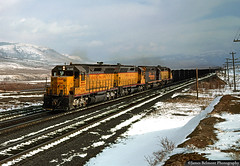 Kaiser Coal Train at Soldier Summit (jamesbelmont) Tags: utah sd45 kaiser kuw summit up drgw coal