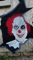 maybe Penny Wise... (tonitonim) Tags: muro wall clown bad whole art arte murales murale pop smile tonim tonitonim 116 squad nuoro sardegna occhio