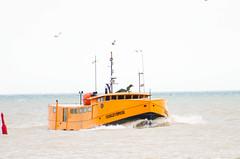 Lake Erie fishing boat; Port Stanley (jonnyherb) Tags: boat fishing orange lake erie lakeerie portstanley fishingboat