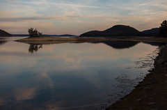 Mt. Russ, Quabbin Reservoir. (koperajoe) Tags: northquabbin gloaming goldenhour beach landscape sunset water reflection mountains sky westernmassachusetts lake quabbin newengland reservoir
