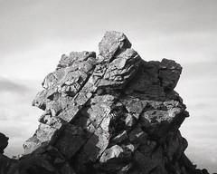 quartzite (OhDark30) Tags: olympus 35rc 35 rc film 35mm monochrome bw blackandwhite bwfp fomapan 200 rodinal quartzite outcrop rocks stiperstones shropshire hills outdoor