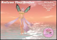 Kalyna Tiny Avatar with Evening Primrose Silks (ReenaStark) Tags: reenassweettreats reenastark secondlife sl marketplace avatar avatars fairy fairies fae faes pixie pixies silk silks primrose kalyna