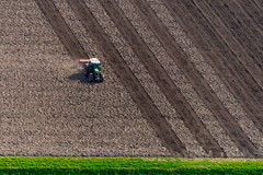 Cultivation (Emu Alim) Tags: netherlands nikond5 cultivation ariel arial lines color machine agriculture