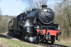 LMS Black Five No.44806 southbound through Esk Valley [NYMR] on 26th March 2017 (soberhill) Tags: nymr northyorkshiremoorsrailway 2017 lms blackfive black5 44806 grosmont pickering pullman eskvalley railway steam train locomotive