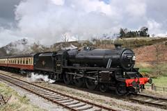 LMS Stanier Class 5MT (chaz jackson) Tags: goathland yorkshire uk lmsstanierclass5mt black5 stanier train steam engine nymr locomotive 45212