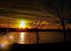 At The Lake Again (Tim @ Photovisions) Tags: nebraska sun rockford water lake rockfordlake sunrise clouds sunset dawn dusk