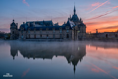 Chantilly le matin (brenac photography) Tags: brenac brenacphotography d810 france nikon nikond810 wow chantilly hautsdefrance fr sunrise cheval stable horse castle conde musee museum lever soleil matin reflection dawn