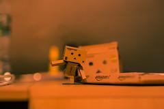 Hello Danbo.... (Alias_Axel_Ryder) Tags: danbo blur blury sharp carton brown karton scharf unscharf unschärfe canon 6 d axel ryder
