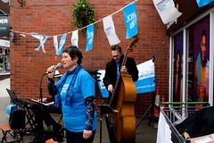 In The Groove: Bircherley Green Hertford (Mike Cook 67) Tags: bircherleygreen electric organ singer bassist doublebass trio hertfordshire hertford campaigning promoting charity parkinsons elements