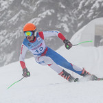 April 15th, 2017 - Aleksa Tomovic of Serbia takes third place in the Mackenzie Investments Whistler Cup U14 Mens GS Ski Race. Photo by Rob Perry - www.coastphoto.com