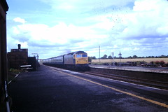 47411 Chathill (ee20213) Tags: northumberland chathill class47 47411 d1510 eastcoastmainline ecml britishrail brblue 474
