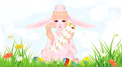 Happy Easter! (Cakettes) Tags: easter easter2017 secondlife bunny pink kawaii femboy catyabento