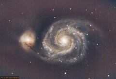 M51 under almost full moon (davidnewbury@rocketmail.com) Tags: m51 c11 mesu200
