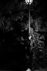 The light in the Darkness (tobiaspriwall) Tags: tobiaspriwallfotografie nikond600 d600 street streetphotography streetlamp blackandwhite portrait fantasyofaphotograph