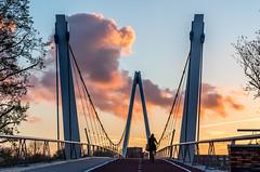 Dafne Schippersbrug - Utrecht (Bart Weerdenburg) Tags: dafneschippersbrug dafneschippers brug utrecht kanaal sunset bridge fietsbrug