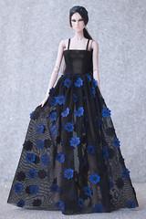 2017/003 Look 2 (NOVA FU) Tags: lovetonesdoll lovetones lena nova fashion doll blue flower black rose shine
