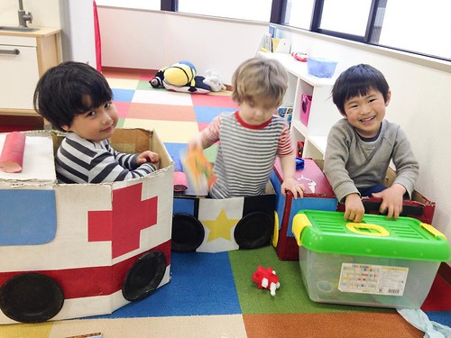 The emergency gang at Star Kids International Preschool, Tokyo. #starkids #international #preschool #school #children #toddler #kids #kinder #kindergarten #daycare #fun #shibakoen #minatoku #tokyo #japan #instakids #instagood #twitter #子供 #幼稚園 #保育園 #スターキッ