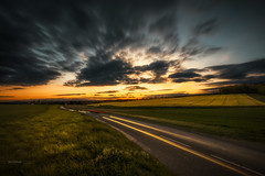 On the road (Stéphane Sélo) Tags: fleursetplantes france pentax pentaxk3ii printemps ain arbre blending champ ciel clouds coucherdesoleil filé landscape light lightstream nature nuage paysage sunset voiture