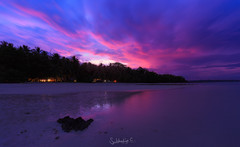 Burn (Subhadip C, AFIAP) Tags: govindanagar beach havelock island andaman nicobar india sunset clouds subhadip