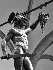 Perseus with the Head of Medusa (CesareGiulio) Tags: perseo perseus medusa bronze sculpture firenze florence italia italy toscana tuscany bw