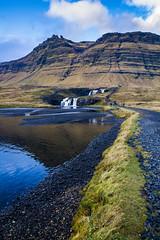 Kirkjufell, Iceland - a different angle (Ovcaa) Tags: iceland kirkjufell mountain landscape fall waterfall